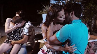 Sex party with Ava Courcelles & Dani Daniels, on vacation without their husbands