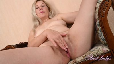 AuntJudys – Laura Takes A Reading Break To Strip And Masturbate For You