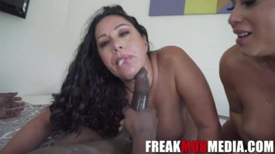 FreakMobMedia – Queen Rogue Caught Her Daughter Carmela Clutch With A Monster Cock